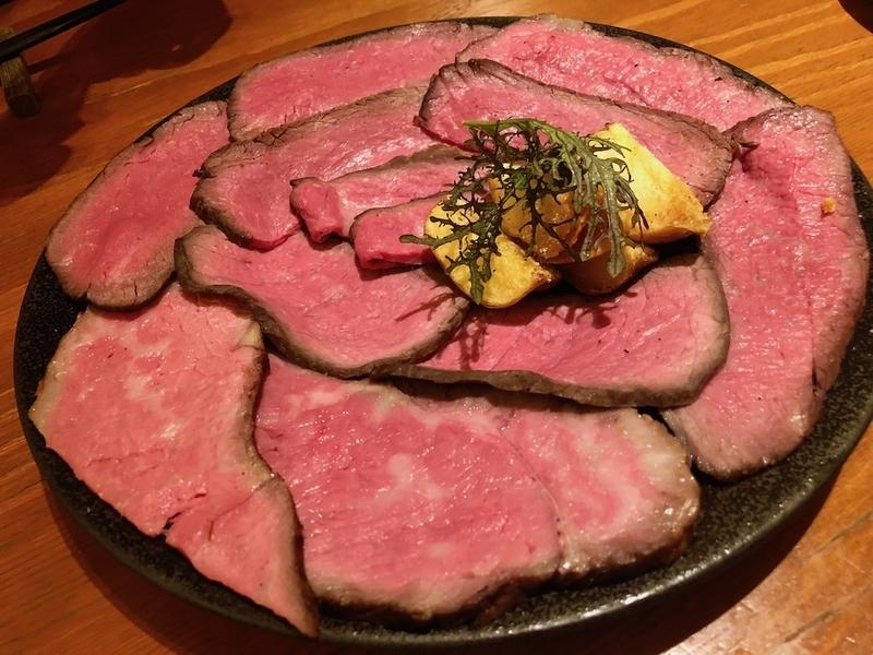 裏参道牛肉店のローストビーフ